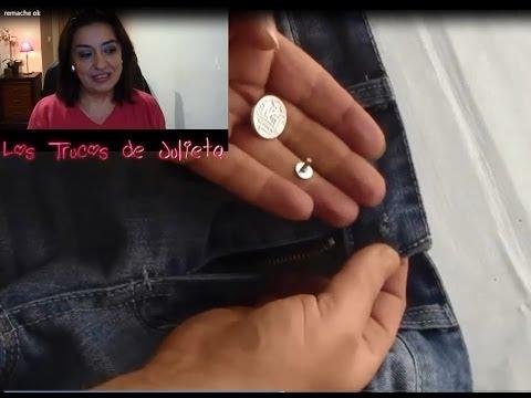 ARREGLAR BOTON DE REMACHE CON AGUJERO. Fix Rivet Button With Hole