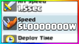 I CAN'T BELIEVE HOW SLOW THIS CARD IS in Clash Royale...