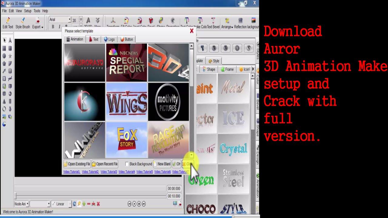 Download Aurora 3D Animation Maker Setup and Crack Full Version