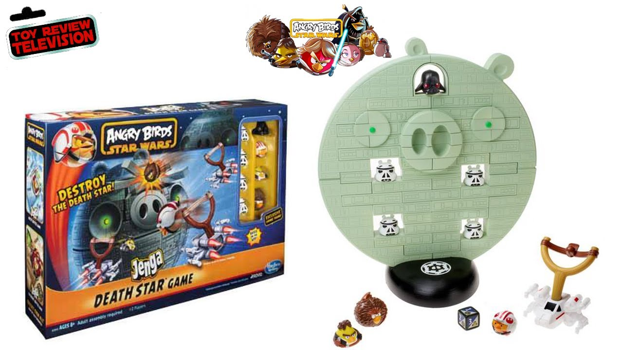 Angry Birds Star Wars Toys : Angry birds star wars death star jenga game from hasbro toy review