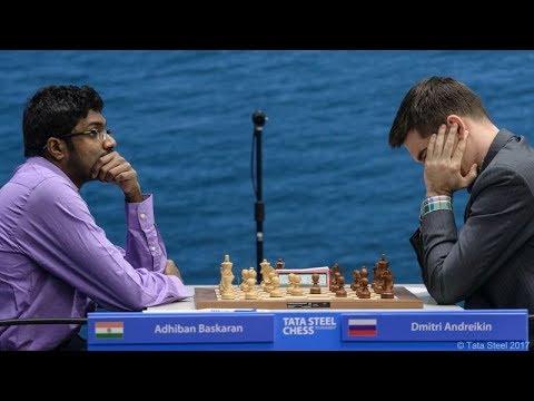 Brilliant Chess Game: Adhiban Baskaran vs Dmitry Andreikin