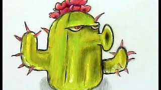 How I Draw Cactus Plants vs Zombies