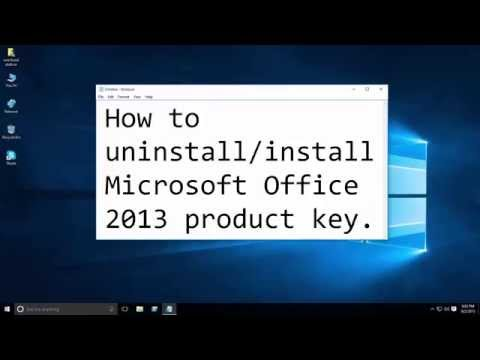 How To Uninstall/install MS Office 2013 Product Key