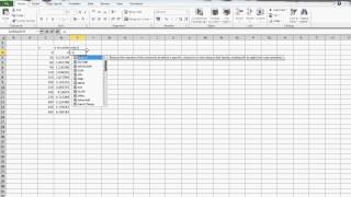 Graphing sin(x) in Excel