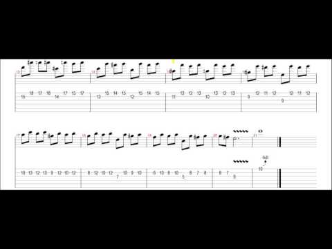 Slash – Anastasia (solo guitar #1) tab