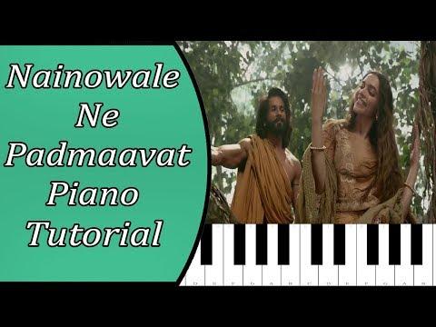 padmaavat:-nainowale-ne-piano-tutorial-with-notes