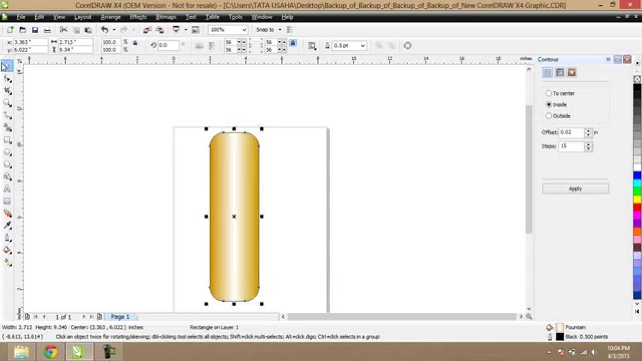 How To Make Gold Plated Colors In Corel Draw Youtube