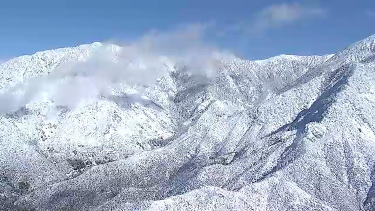 Live Powder White Snow Caps Mountains Across Angeles