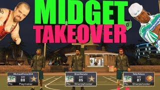 MIDGETS TAKE OVER MYPARK W/ MICHAEL FORCE!!! SMALLEST PLAYER EVER!! NBA2K17 MYPARK