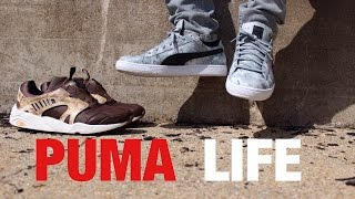 "Puma Life! Footwear & Apparel - Trinomic Disc & Basket Low ""tree Camo"" On Feet & Styled"