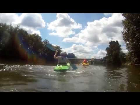 Raftooning and kayaking on Tuscarawas River
