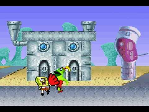Game Boy Advance Longplay [165] SpongeBob SquarePants: SuperSponge