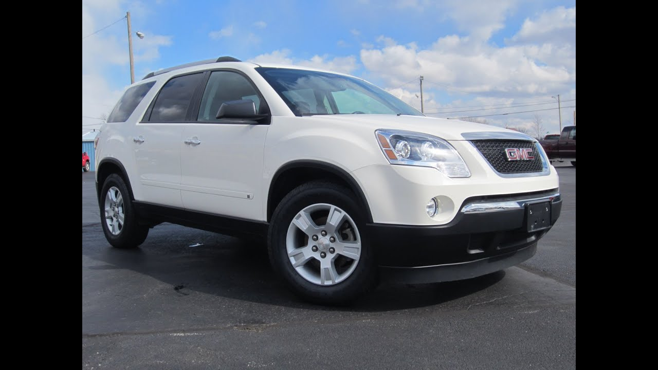 2010 gmc acadia sle awd for sale 39k miles sunroof lease return nice sold youtube