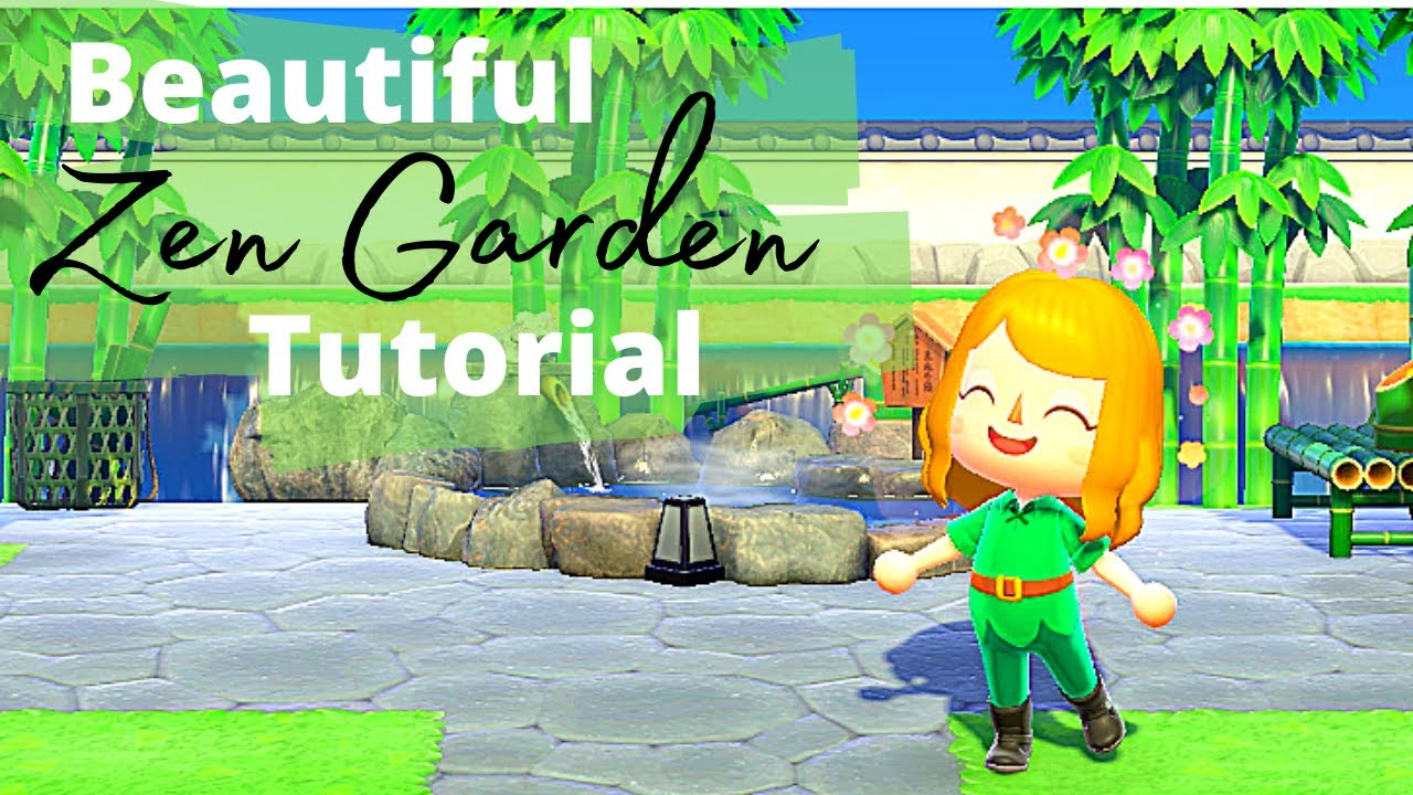 You Have To See This Zen Garden In Animal Crossing New Horizons Tutorial Included Real Game Play Youtube