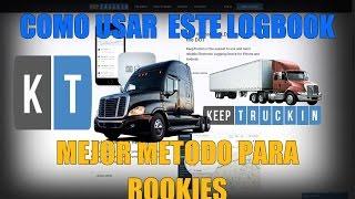 Rookie Truck Latino - Como usar KeepTruckin app el LogBook de nosotros los Rookie's