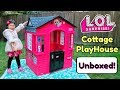 NEW LOL SURPRISE COTTAGE PLAYHOUSE! UNBOXING + ASSEMBLY! GIANT LOL SURPRISE DOLL HOUSE Little Tikes