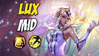 LUX ELEMENTALISTA GAMEPLAY - SKIN LINDA -  1 combo Mato Geral - League of Legends