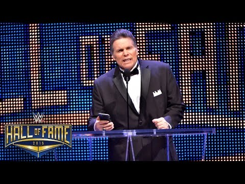 """Lanny Poffo inducts his brother, """"Macho Man"""" Randy Savage, into the WWE Hall of Fame: March 28, 2015"""