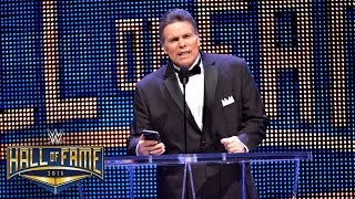 "Macho Man"" Randy Savage is welcomed into the WWE Hall of Fame with ..."