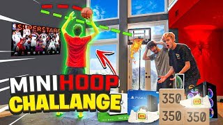 MINI HOOP Make the Shot Ill Buy you ANYTHING CHALLENGE