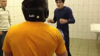 русский vs даг , русский в шлеме