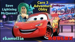 We need to Save Lightning McQueen! - Roblox Cars 3 Adventure Obby