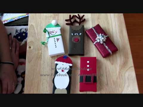 Chocolate Bar Wrapping Christmas Crafting Overview