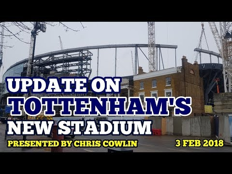 UPDATE ON TOTTENHAM'S NEW STADIUM: Roof, All Stands, Aerial Footage - 3 February 2018