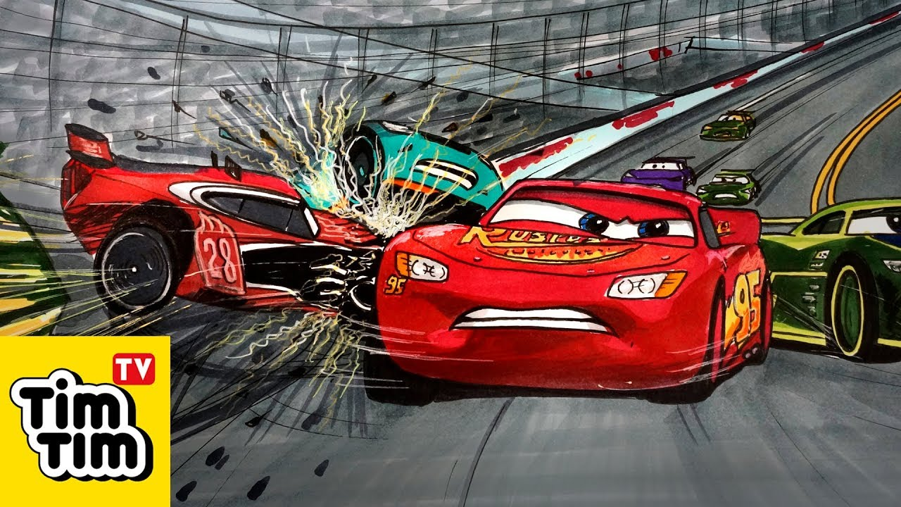 How to draw CARS 3 Next Gen Crash