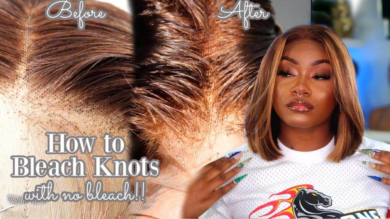 How to Bleach Knots with NO BLEACH👀 | Beginner Friendly | Laurasia Andrea | Unice hair
