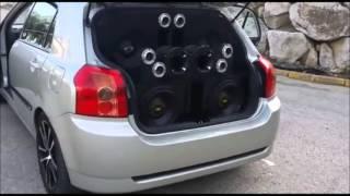 Toyota Corola probando sus nuevas Kipus SD Monsters