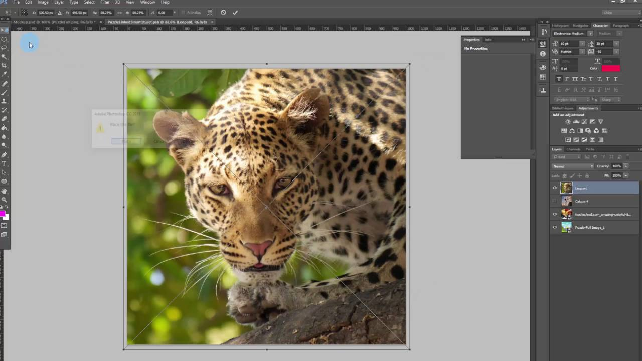 How to generate puzzle pieces, using your own image, for the
