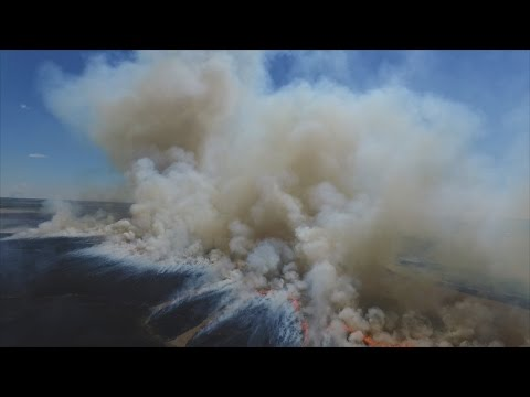 Firefly--Extreme Drone Footage of a Kansas Prairie Fire