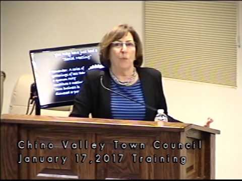 Chino Valley Town Council Open Meeting Law Training January 17, 2017