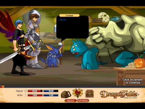 Let's Play Dragon Fable Pt 39 - The Darkness Orb Saga - Disappearing Artix...