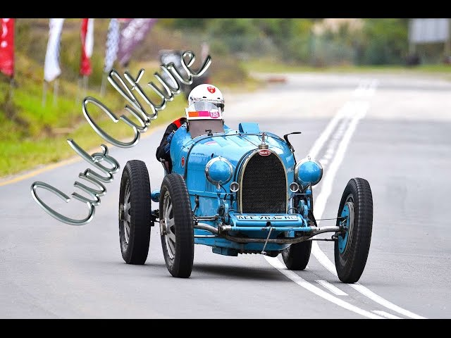 Watch a pre-war Bugatti Type 35B chug its way up the Jaguar Simola Hillclimb