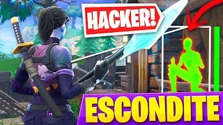 JUGANDO AL ESCONDITE CON UN *HACKER* EN PATIO DE JUEGOS de FORTNITE: Battle Royale!