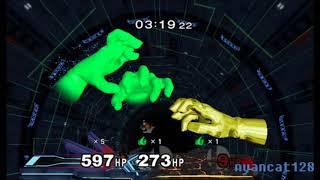 Super Smash Bros. Melee: Gold Master Hand vs. 2 Crazy Hands