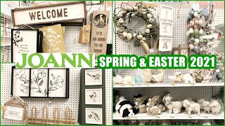 JOANN FABRICS SPRING AND EASTER DECOR 2021 SHOP WITH ME
