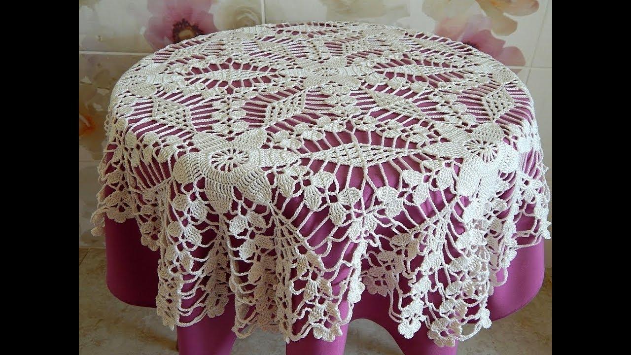 Crochet Motif Patterns For Tablecloth Part 6 Border Diy Crochet