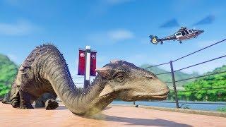 Ankylodocus & Indominus Rex Breakout! Jurassic World Evolution