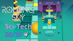 Rolling Sky - Level 7 - Sci-tech - 100% Complete, All Gems !