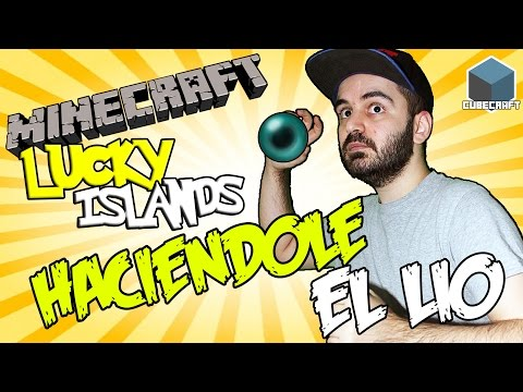 HACIENDOLE EL LIO CON CRYSTALSIMS | LUCKY ISLANDS | CUBECRAFT MINECRAFT GAMEPLAY