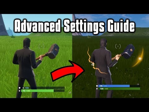 Advanced Settings Guide For PC & Console - Fortnite Battle Royale (Season 9)