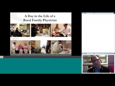 National Primary Care Week Webinars: AAFP Webinar on Rural Health, Robert Wergin, MD