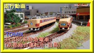【走行動画】TOMIX JR 485系特急電車(京都総合運転所・白鳥)【鉄道模型・Nゲージ】