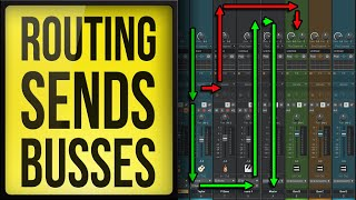 How To Use Cakewalk by Bandlab - Routing, Sends, and Busses