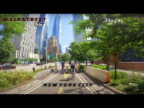 The Big Apple - The Manhattan Waterfront Greenway (4K, Natural City Sounds)