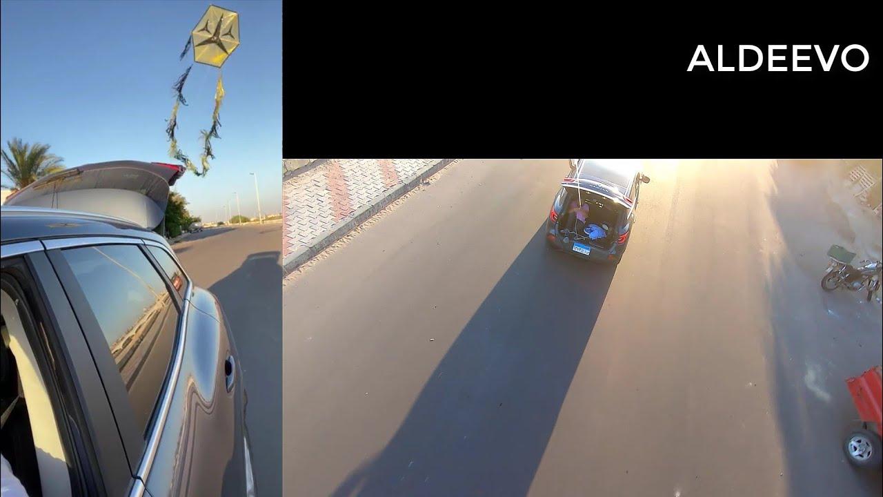 ربطنا الطيارة في العربية ... و وقعت كاميرا جوبرو من ارتفاع 50 متر !!! ربنا ستر