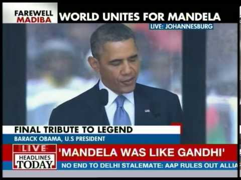 Barack Obama's speech at Mandela memorial